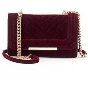 Apt 9 velvet burgundy/wine crossbody clutch